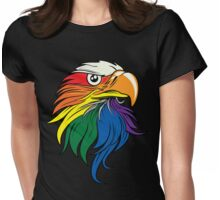 Gay American Pride Womens Fitted T-Shirt