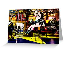 Barrys Amusements Carousel  Greeting Card