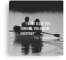 The Notebook 1 Canvas Print