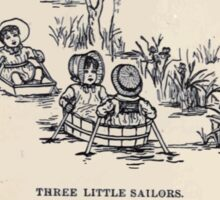 Miniature Under the Window Pictures & Rhymes for Children Kate Greenaway 1880 0026 Three Little Sailors Sticker