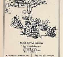Miniature Under the Window Pictures & Rhymes for Children Kate Greenaway 1880 0026 Three Little Sailors by wetdryvac
