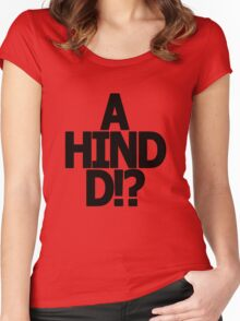 Metal Gear Solid - 'A Hind D!?' Women's Fitted Scoop T-Shirt
