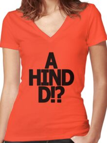 Metal Gear Solid - 'A Hind D!?' Women's Fitted V-Neck T-Shirt