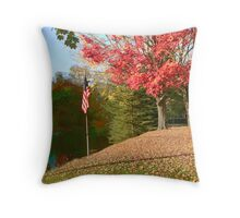 Fall on the Housatonic river Throw Pillow