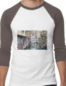 Italy Venice Trattoria Sempione Men's Baseball ¾ T-Shirt