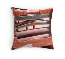 Old fashion clothes wringer Throw Pillow