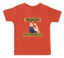 SMASH the patriarchy rosie riveter Kids Tee