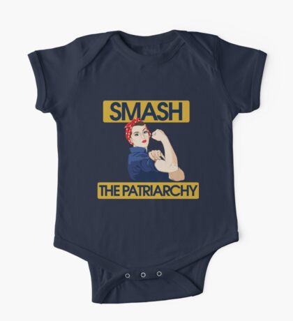SMASH the patriarchy rosie riveter One Piece - Short Sleeve