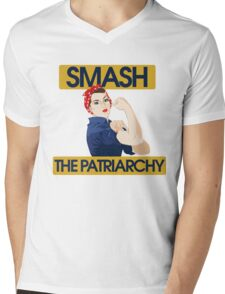 SMASH the patriarchy rosie riveter Mens V-Neck T-Shirt