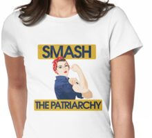 SMASH the patriarchy rosie riveter Womens Fitted T-Shirt
