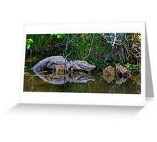 Happy Gator Greeting Card