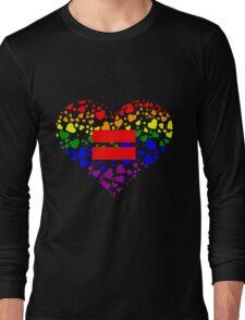 Hearts in Heart Love Wins design Long Sleeve T-Shirt