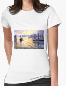 Italy Venice Dawning Womens Fitted T-Shirt