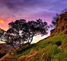 Sunset over Topanga Canyon, CA by LudaNayvelt