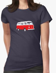 Bay Window Red White Essence (see description) Womens Fitted T-Shirt