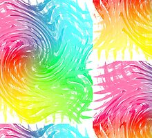 Rainbow Abstract Swirly Wave Crash Pattern by Artification