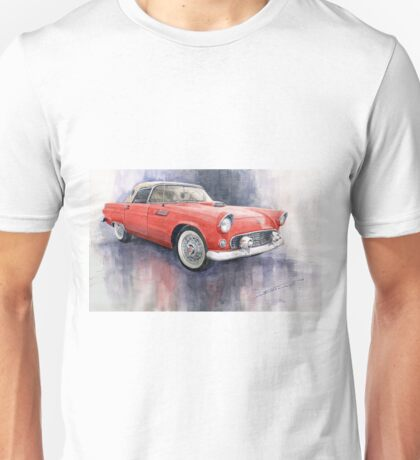 Ford Thunderbird 1955 Red Unisex T-Shirt