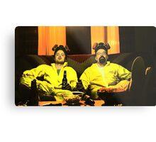 Breaking Bad - Walt and Jessie Metal Print