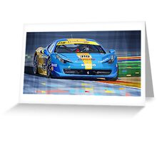Ferrari 458 Challenge Team Ukraine 2012 Greeting Card