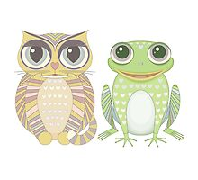 Big-Eyed Cat and Optimistic Frog by Jean Gregory  Evans