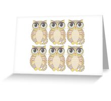 Sextuplet Cats Greeting Card