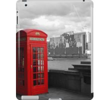 Traditional Red Telephone Box on Thames Embankment iPad Case/Skin