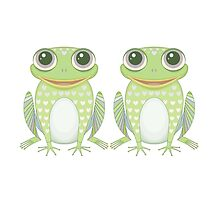 Happy Twin Frogs by Jean Gregory  Evans