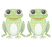 Happy Twin Frogs Photographic Print