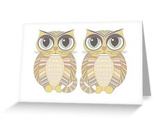 Big-Eyed Twin Cats Greeting Card