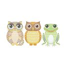 Cat Owl Frog by Jean Gregory  Evans