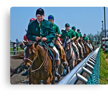 Outriders Along The Rail Canvas Print