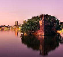 Ship Wreck Sunset by BronwynBell