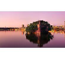 Ship Wreck Sunset Photographic Print