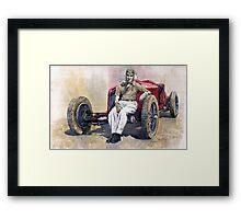 Alfa Romeo Monza Tazio Nuvolari 1932 Framed Print