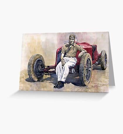 Alfa Romeo Monza Tazio Nuvolari 1932 Greeting Card