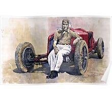 Alfa Romeo Monza Tazio Nuvolari 1932 Poster