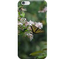Tiger Swallowtail Butterfly on Honeysuckle 2 iPhone Case/Skin