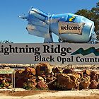 Lightning Ridge Black Opal Country by Darren Stones
