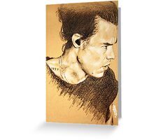 Harry on brown paper Greeting Card