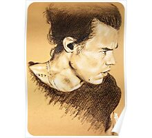 Harry on brown paper Poster