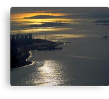 Over Boston Canvas Print
