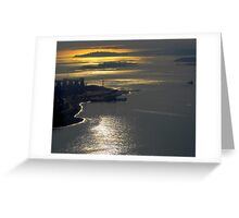Over Boston Greeting Card