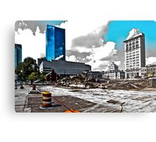 Downtown's Destruction Metal Print