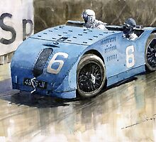 Bugatti Type 32 Tank 1923 French GP  by Yuriy Shevchuk