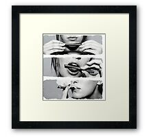 Girls loves blunt Framed Print