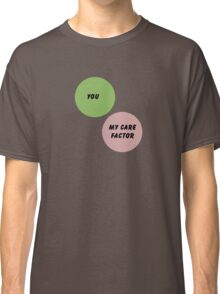 Care Factor Venn Diagram Classic T-Shirt