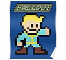 Fallout 4 - Vault Boy (8-bit Pixel Art) Poster