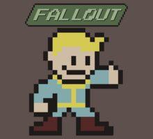 Fallout 4 - Vault Boy (8-bit Pixel Art) Kids Clothes