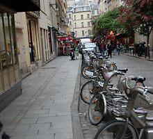 Paris bicycles by Julieholl