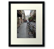 Paris bicycles Framed Print